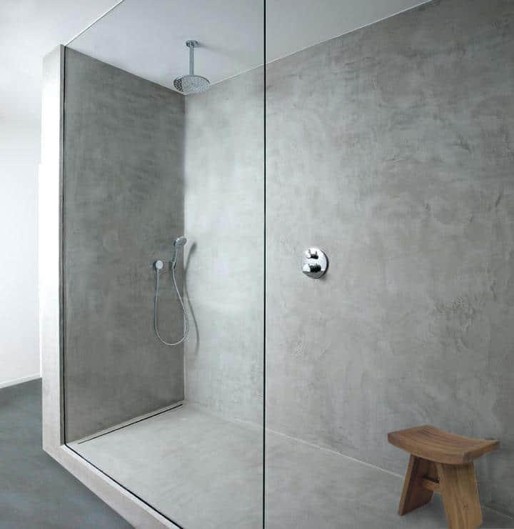 béton ciré dans la douche