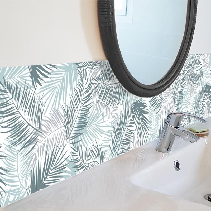 credence adhesive en bandeau de PVC motif de palmier