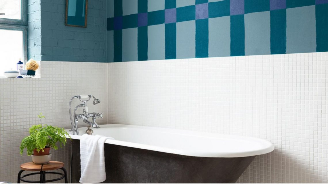 cacher un carrelage de salle de bain peinture