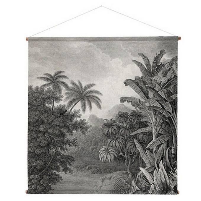 toile murale de style panoramique antique noir et blanc