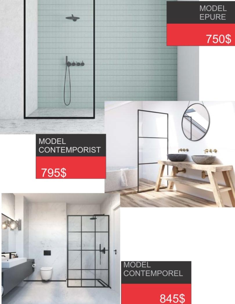 prix mur vitré douche